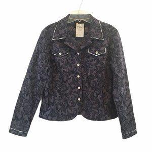 Christine Alexander Bling Jacket  Blue Rhinestone